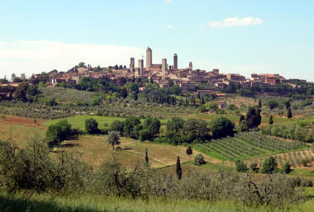 Toscana strada del vino di san gimignano percorsi for Planimetrie del paese di collina