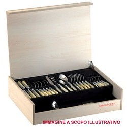 Flatware Set Model ARIANNA (ghiera cromata) - Set 49 pieces