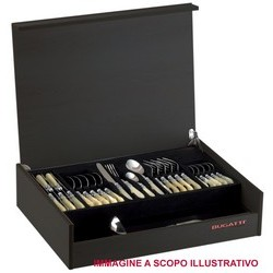 BUGATTI Flatware Set Model OXFORD (ghiera dorata) - Set 50 pieces