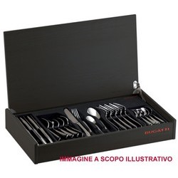 BUGATTI Flatware Set Model OXFORD (posata placcata oro 24kt) - Set 24 pieces