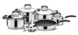 Cookware Set 11 Pcs 12 O'Clock Red S/Steel