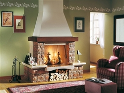WALL FIRE ENGINE Balck - Electric fireplace
