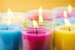 Italian Luxury Candles - Candela Sfera Viola Ecclesia - Linea Classica Ø 150 mm