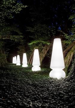 Packung mit 1 LED-Laterne / H: 9 cm / Kerzenlicht oder normales Licht