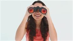 Compact binoculars with lining