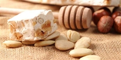 Handmade Sicilian Soft Almond and Orange Peel Nougat Bar - 150g Package