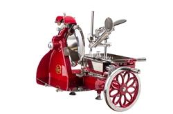 Affettatrice Volano Curvy Line 250-Lama 25cm - Parti Alluminio+ kit Ulivo - Rosso
