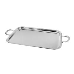 Alessi-Avio Vassoio in acciaio inox 18/10 satinato con bordo lucido