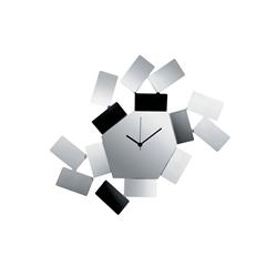 Alessi-La Stanza dello Scirocco Orologio da parete in acciaio e resina, nero