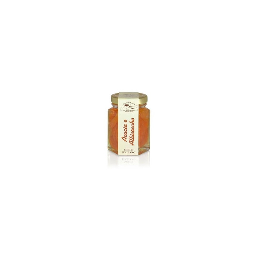 photo Acacia honey pot with Apricots 130g