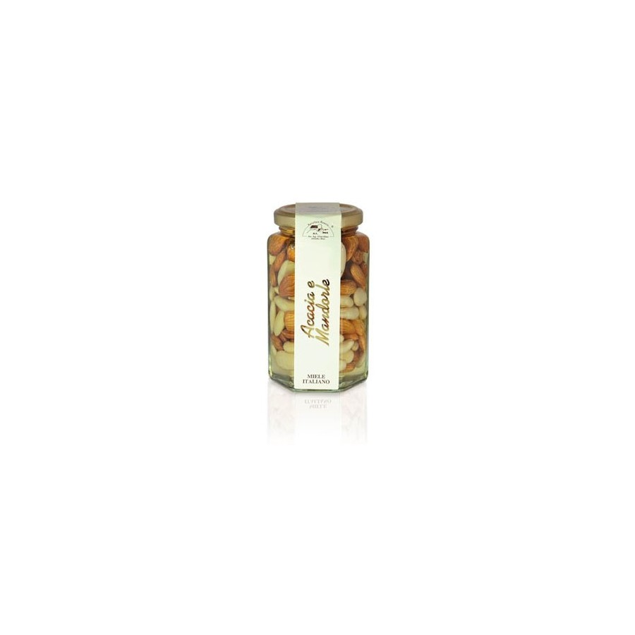 Acacia Honey with Almonds jar 290gr