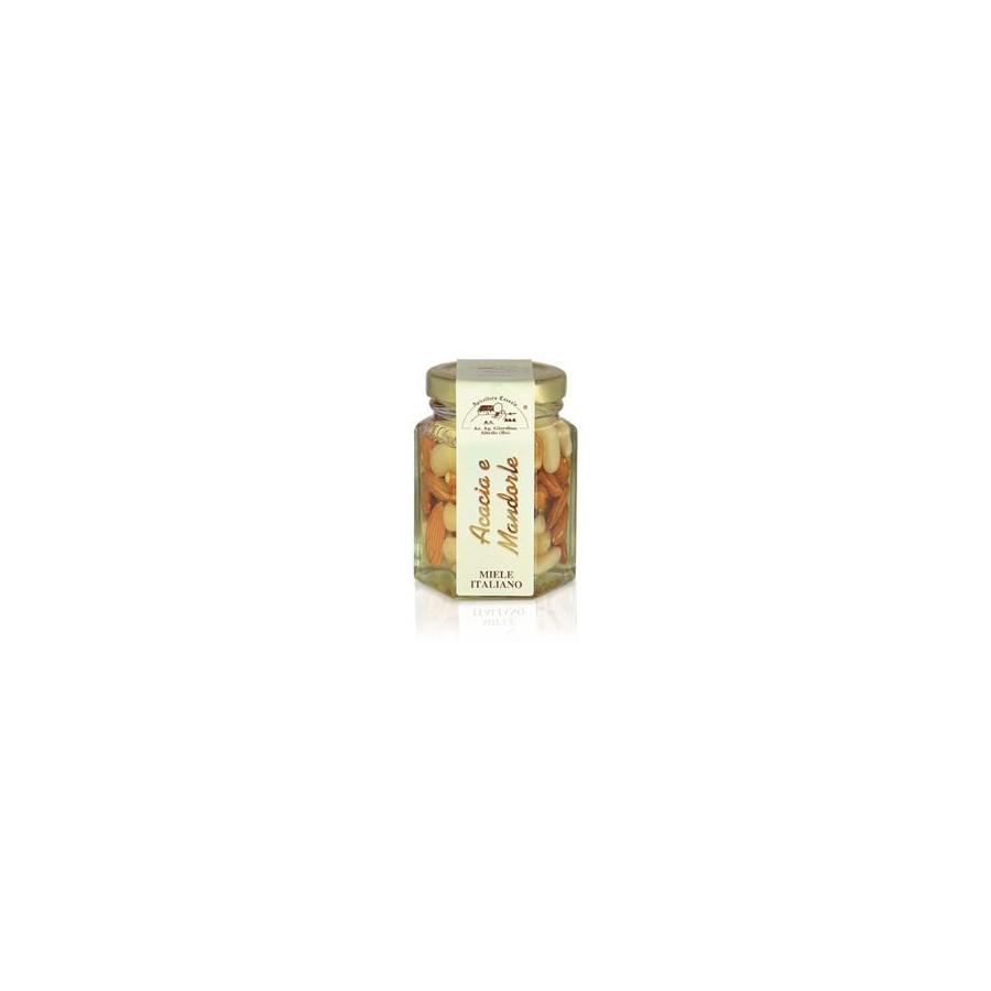 Acacia Honey with Almonds jar 120gr Apicoltura Cazzola - Azienda Agricola  Giardino Honey Products