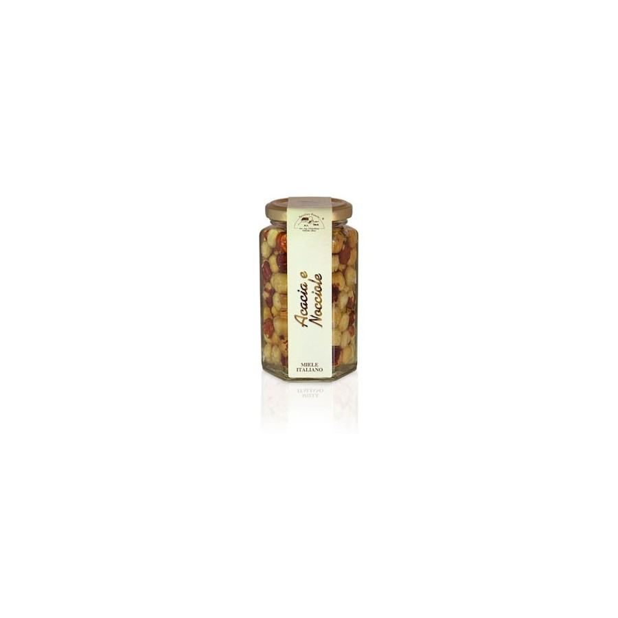 Akazienhonig mit Haselnüssen 320gr Glas