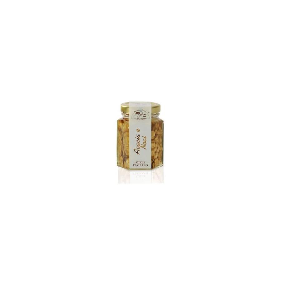 Acacia Honey with Nuts 130g jar