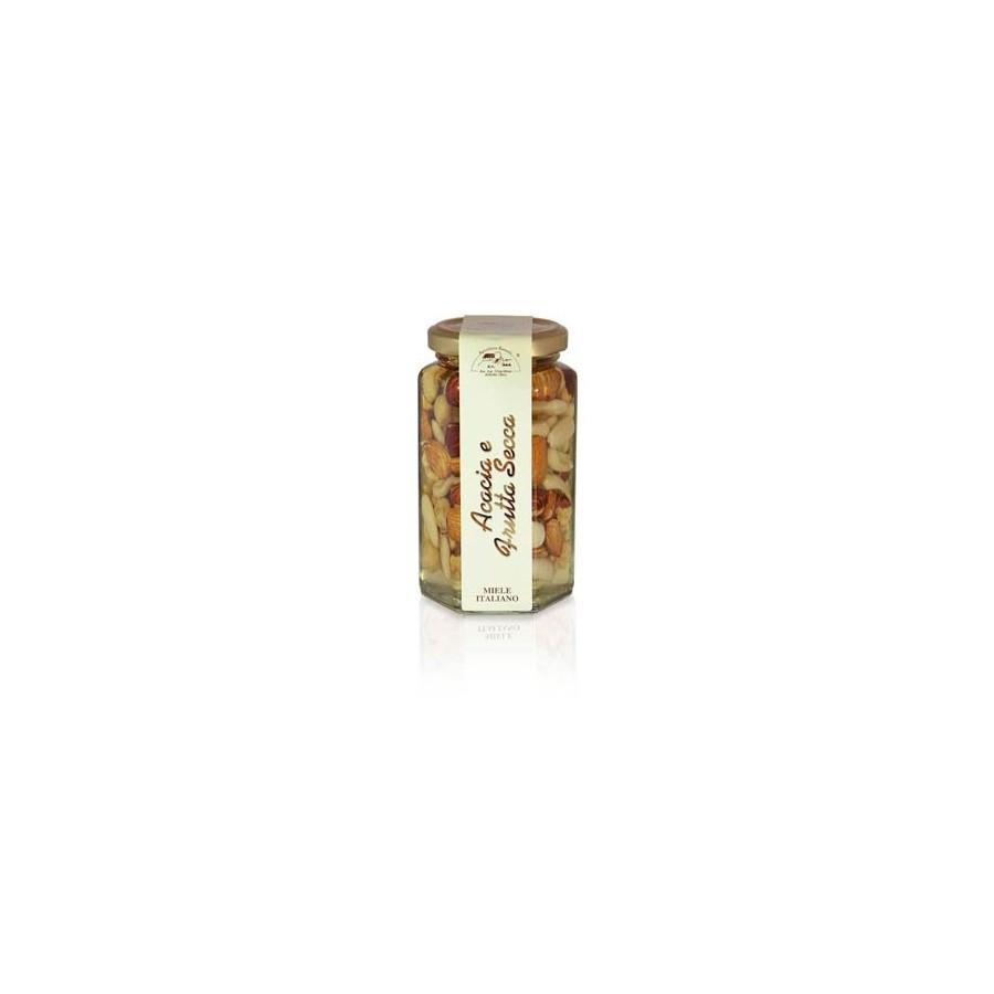 Akazienhonig mit gemischten Nüssen 350g Glas