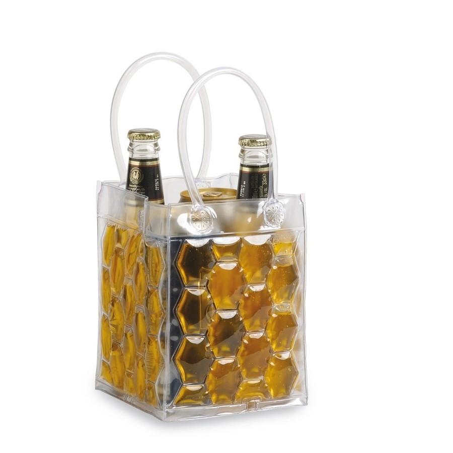 Freez Bag 4 Lattine 33cl, Borsa Ghiaccio per 4 Lattine o Bottiglie da 33 cl