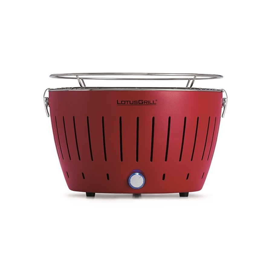 Barbecue table red