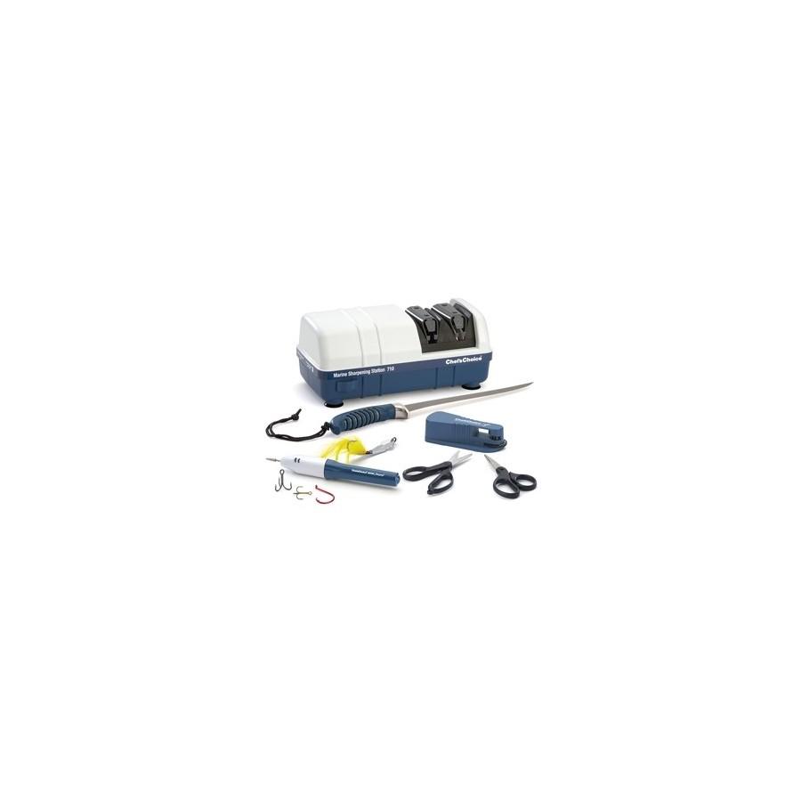 Affilalame elettrico per lame sottili e dentellate - blu