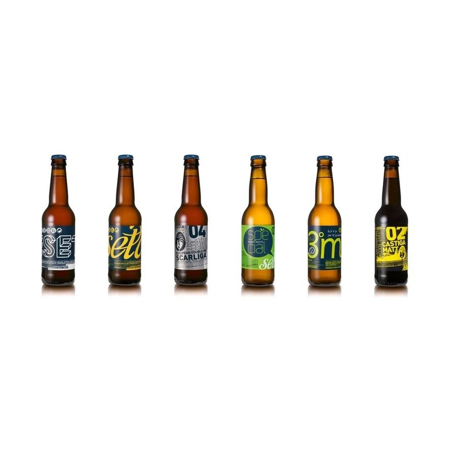 BIRRA ARTIGIANALE - TASTING mix of 6 Craft Beers (6x33cl)
