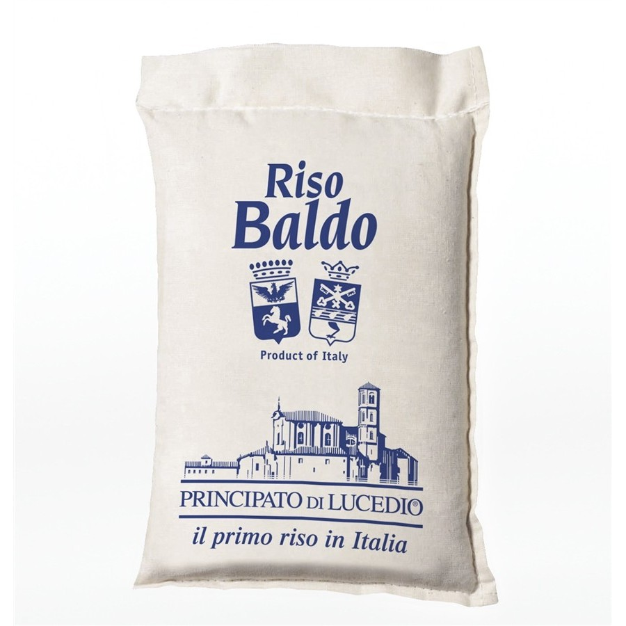 BALDO Rice - 1 kg - in Cellophane bag with protective atmosphere and Sack Canvas