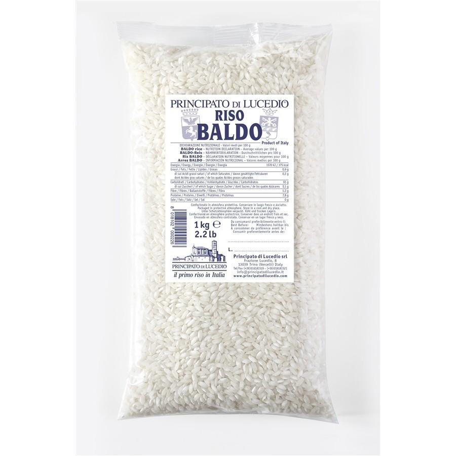 """Riso BALDO """"Linea Ristorazione"""" - 1 kg - Sacchetto in Cellophane con Atmosfera Protettiva"""