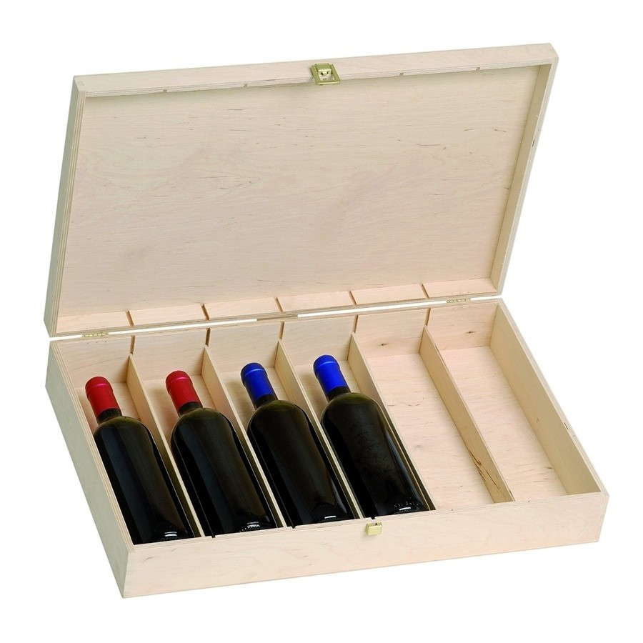 Deposit Wine In Natural Birch For 6 Bottles Ideal For Gift Baskets Renoir Wine Boxes Products