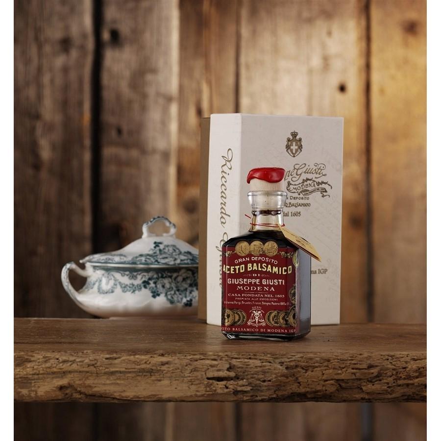 Geschenkverpackung mit Beutel Holz - THE JEWEL 5 Flaschen Historische Sammlung 250 ml Balsamico