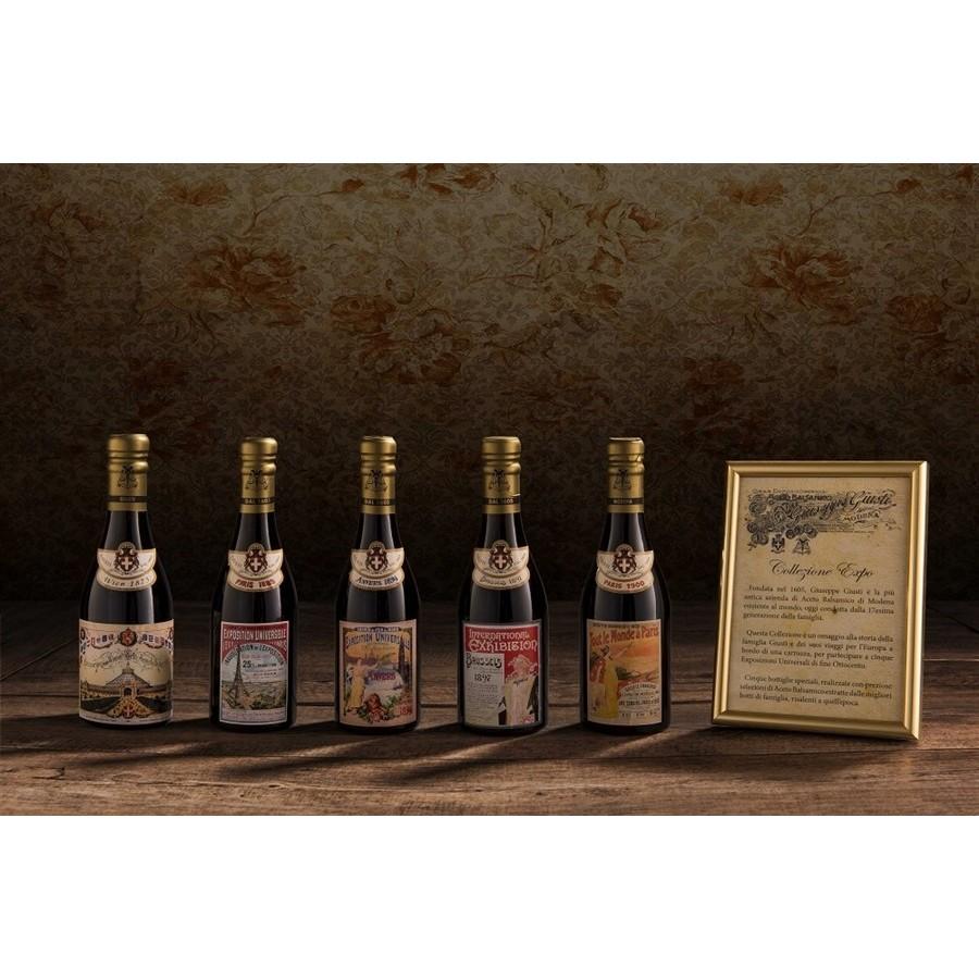 -Gedenksammlung ''Alte Weltausstellung''-Set von 5 Flaschen Flasche PGI Balsamico-Essig aus Modena C