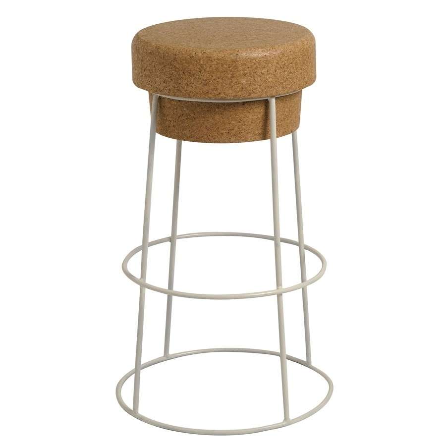High Stool - from solid cork counter stool