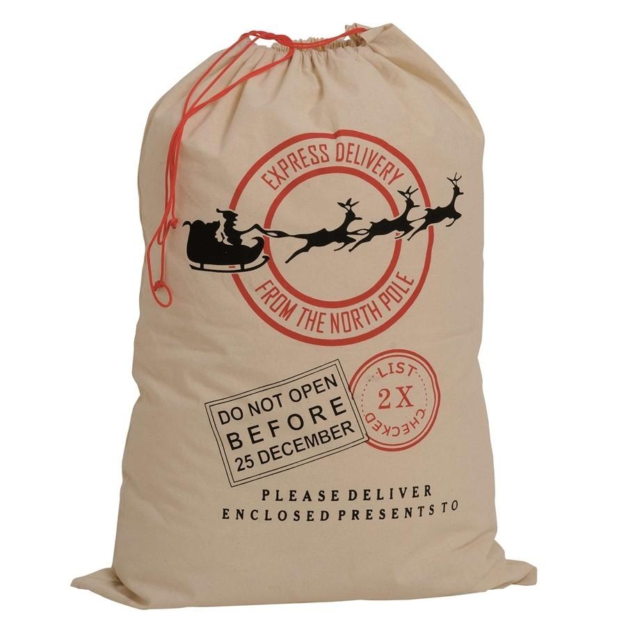 Bag Post Christmas - Cotton bag with Christmas graphics