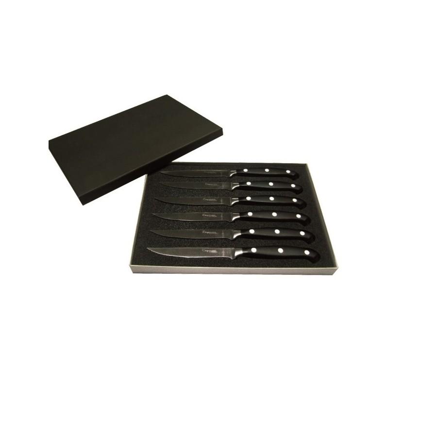 7 Fleischmesser mit Geschenkbox - CAYMAN BLACK