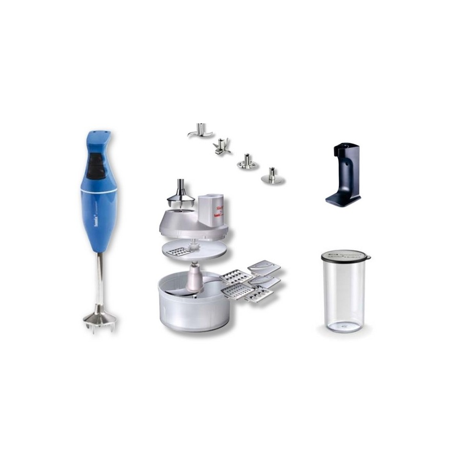 Bamix Mono - Hand Held Food Processor + Accessories - Light Blue