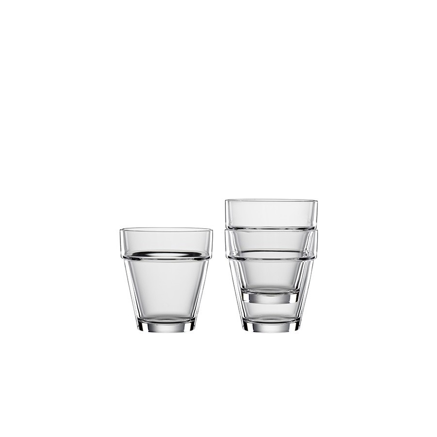 4 Crystal Glasses Bistrò Tumbler L - 320ml