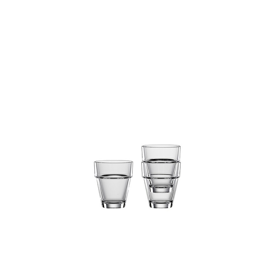 4 Crystal Glasses Bistrò Tumbler Mini - 95ml