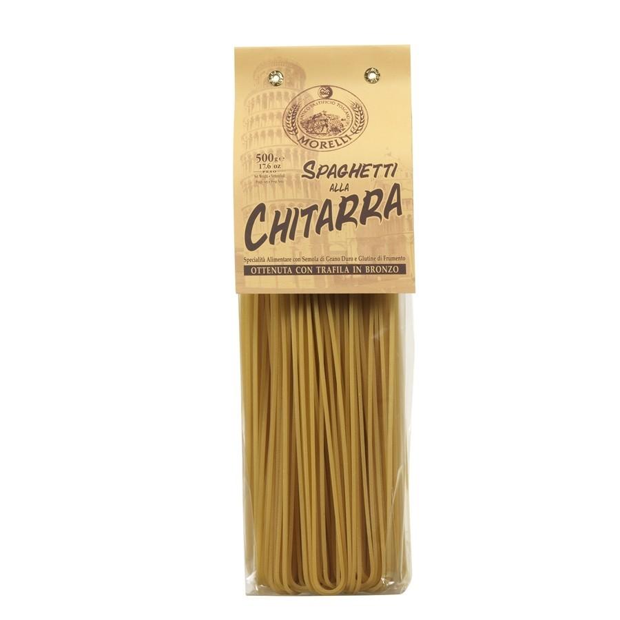 Antico Pastificio Morelli - Spaghetti alla Chitarra di Semola di Grano Duro - gr. 500 x 16