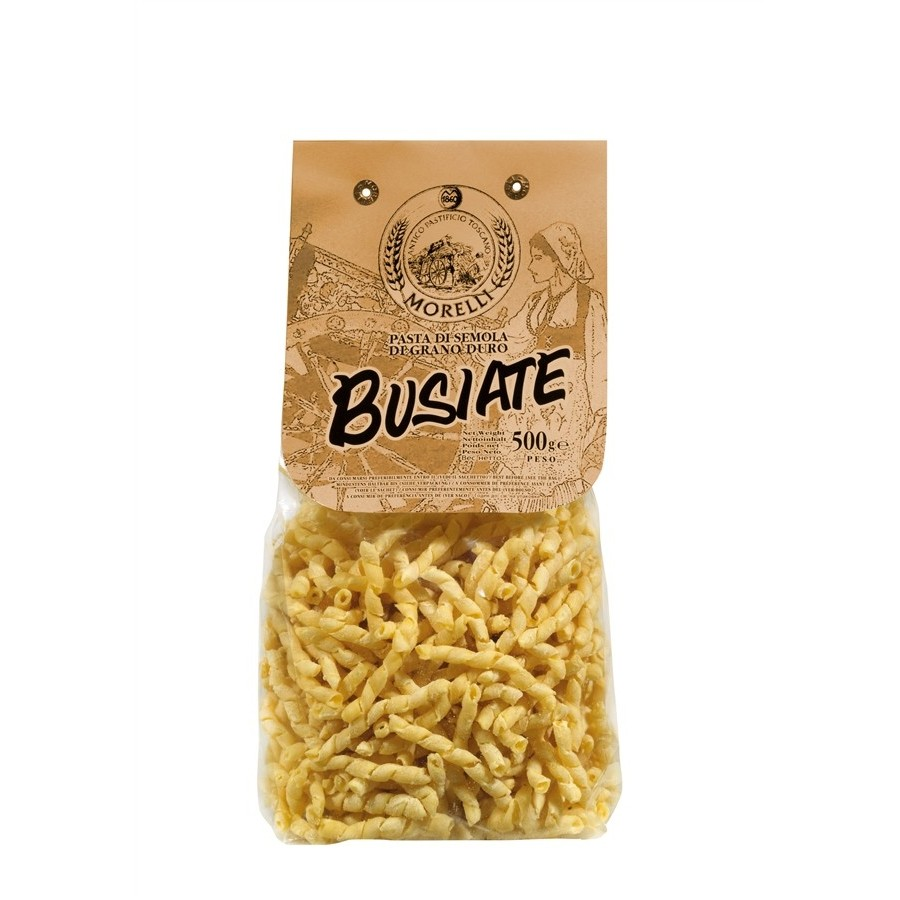 photo Morelli Pasta Factory - Busiate with Durum Wheat Semolina - gr. 500 x 12