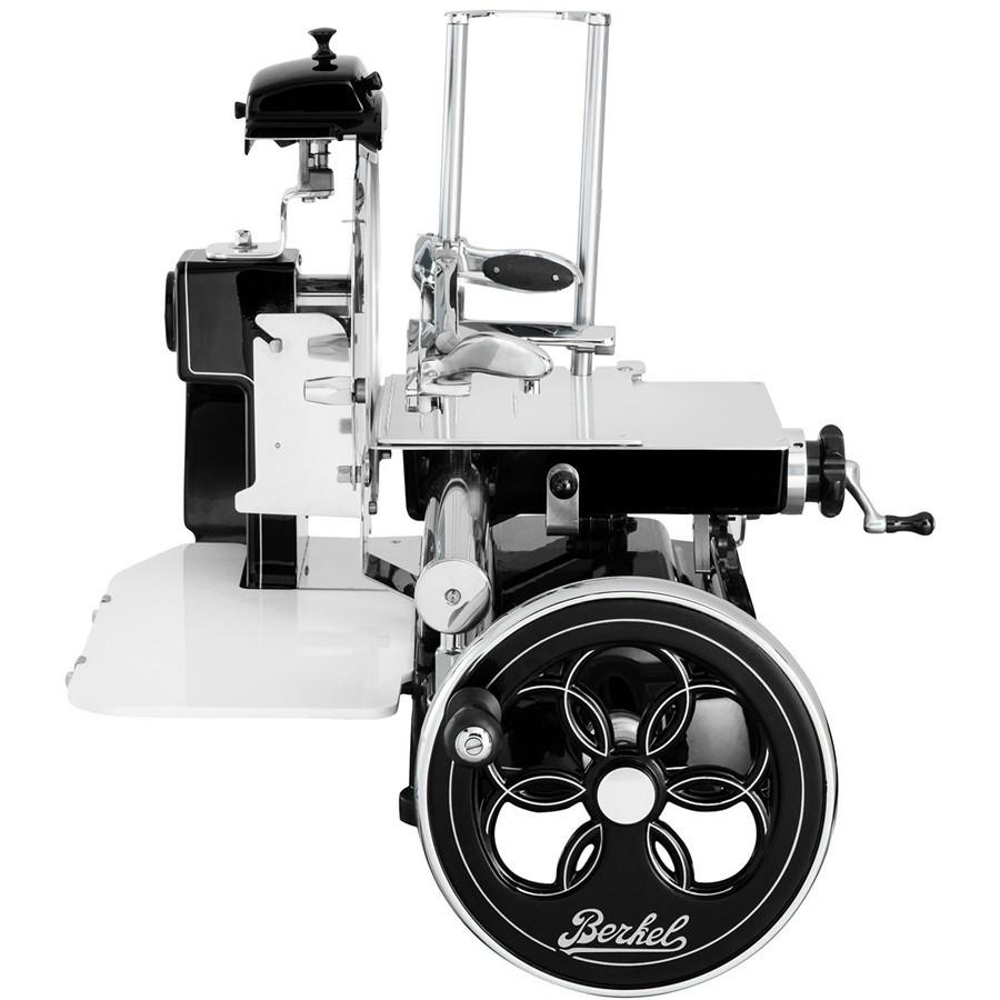Berkel - Flywheel Slicer - Mod. B2 News 2018 - Black with Decors  Silver and Flywheel  flowered