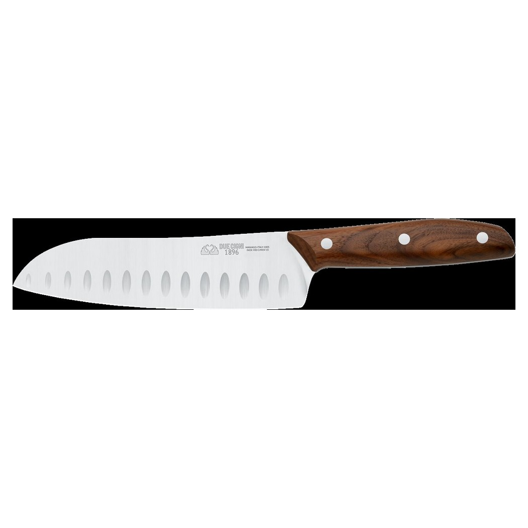 1896 Line - Santoku Knife CM 18 - Stainless Steel 4116 Blade and Walnut Handle