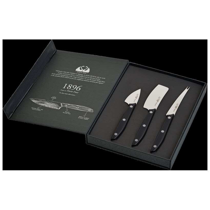 photo 1896 Line - 3-Piece Cheese Knives Set  - Stainless Steel 4116 Blade and POM Handle