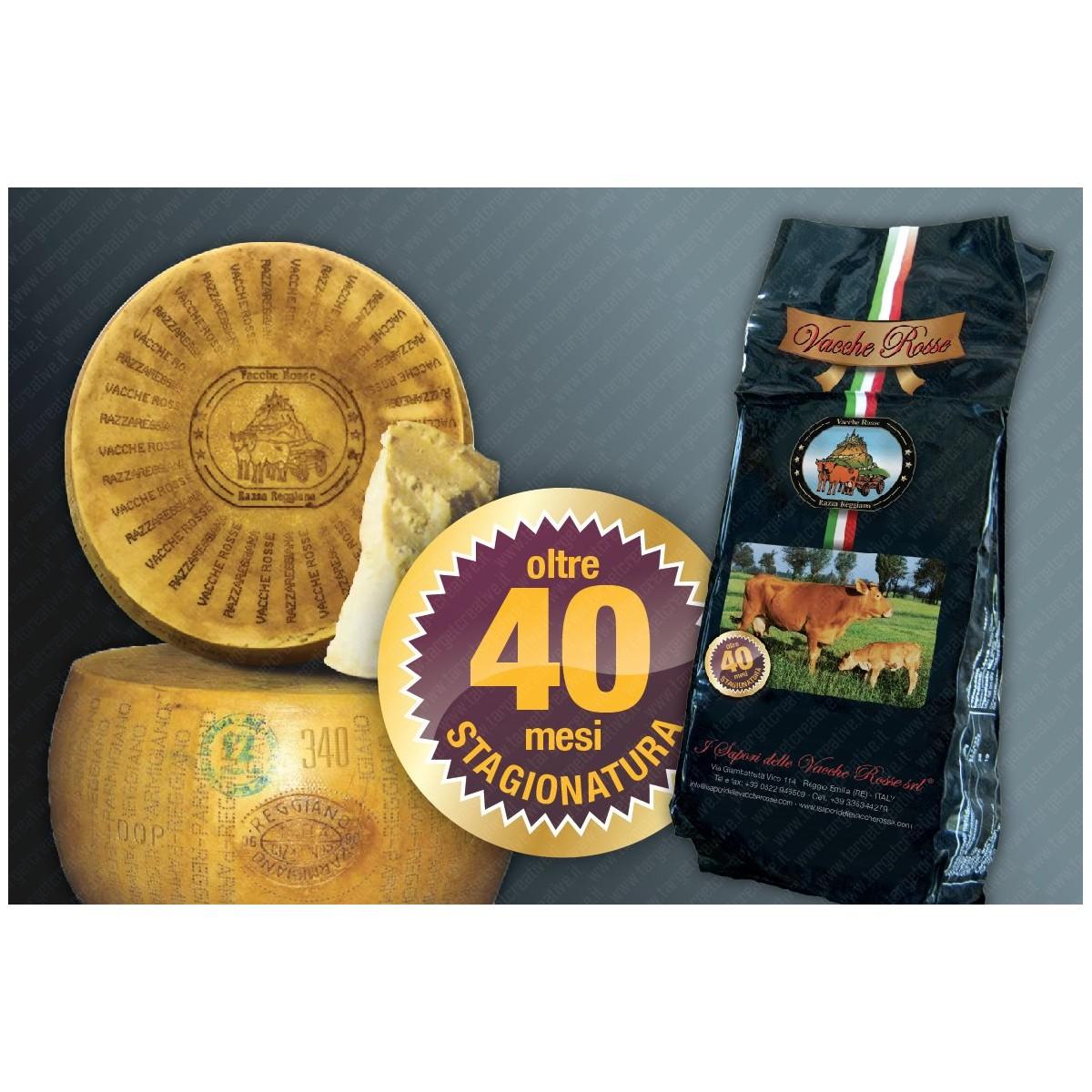 Parmigiano Reggiano Vacche Rosse  Forma Intera - Oltre 40 Mesi ''RISERVA'' - 36 Kg Circa
