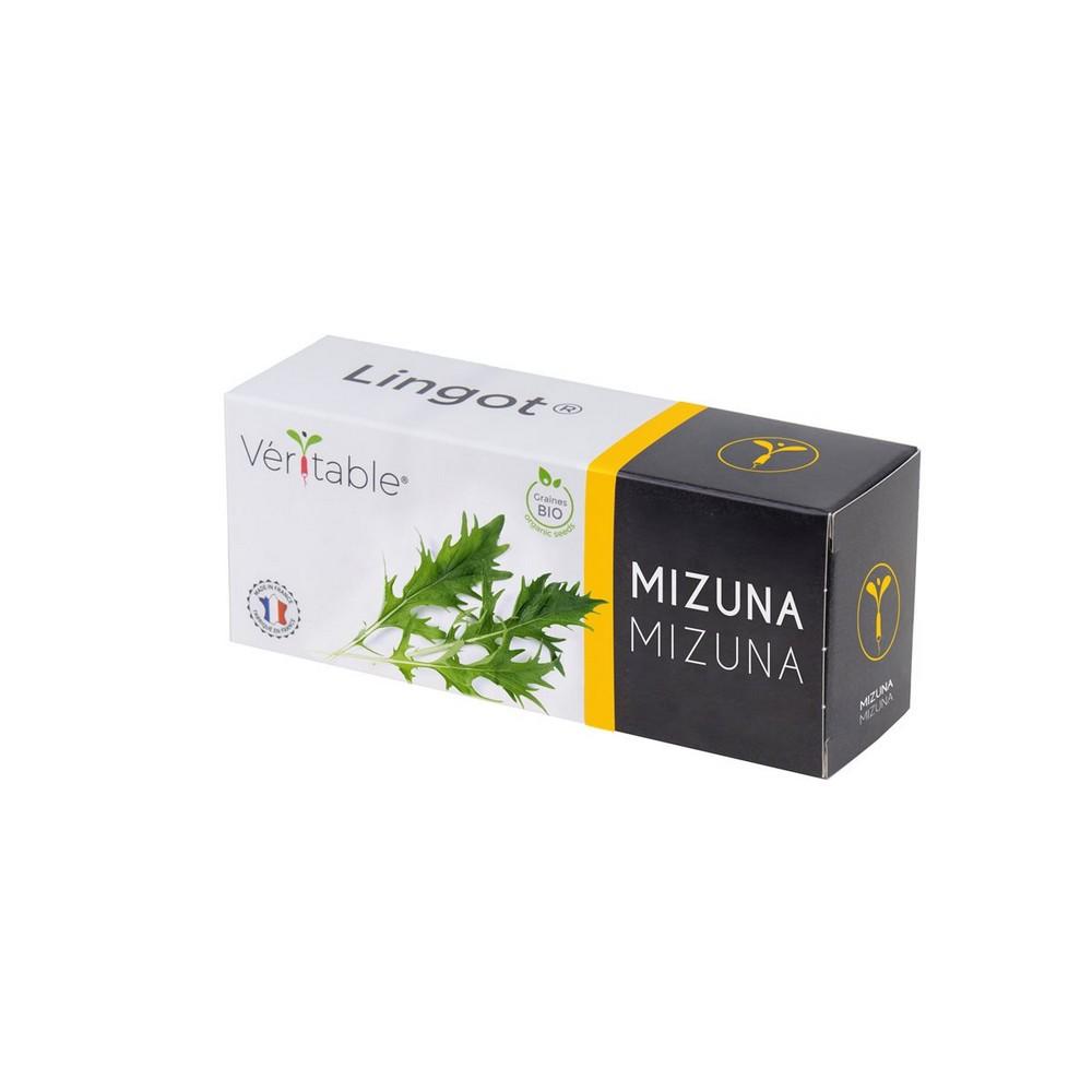 4 packs of Lingot® Mizuna BIO - Compatible with all Types of Garden Veritable