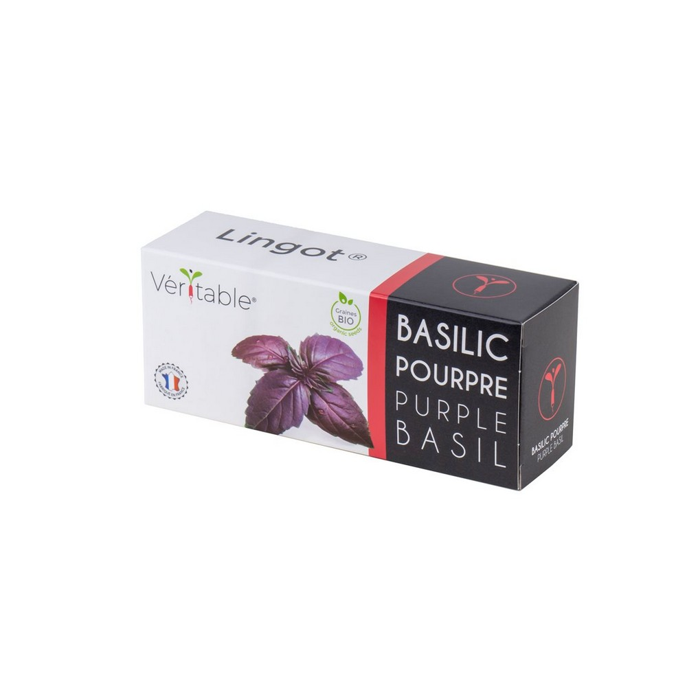 4 packs of Organic Purple Basil Lingot® - Compatible with all Types of Garden Veritable