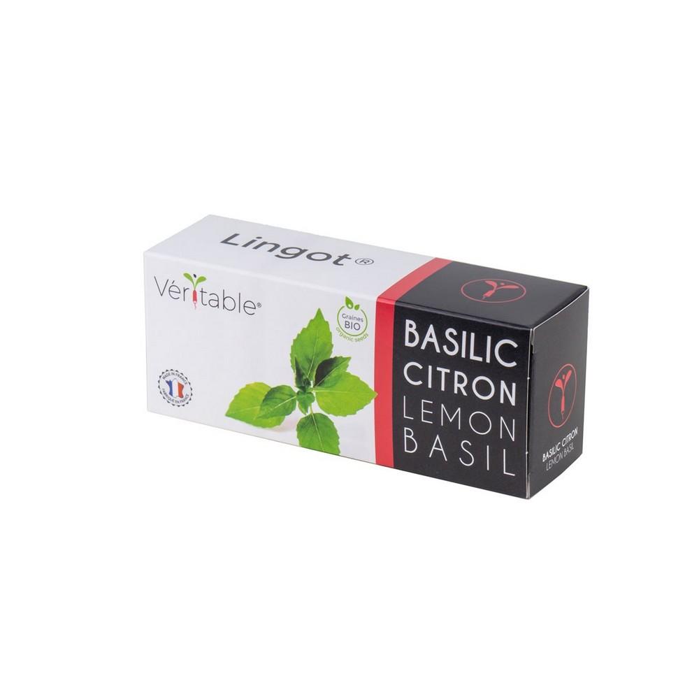 4 packs of Organic Lemon Basil Lingot® - Compatible with all Types of Garden Veritable