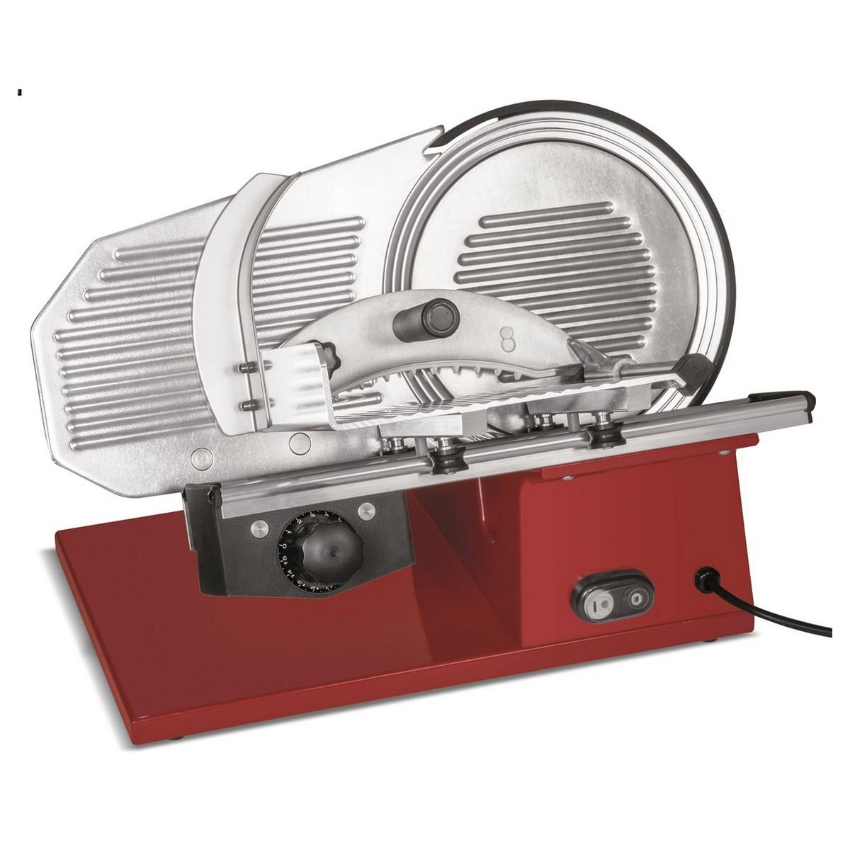 Affettatrice Modello Evolution 220 - Rossa con Lama Teflon Ø 220 mm