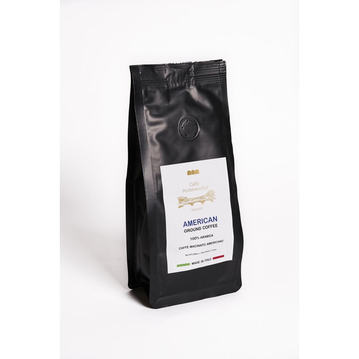 Caffè Macinato Americano - BOX da 250 grammi Americano - Carta Filtro - 100% Arabica GOURMET