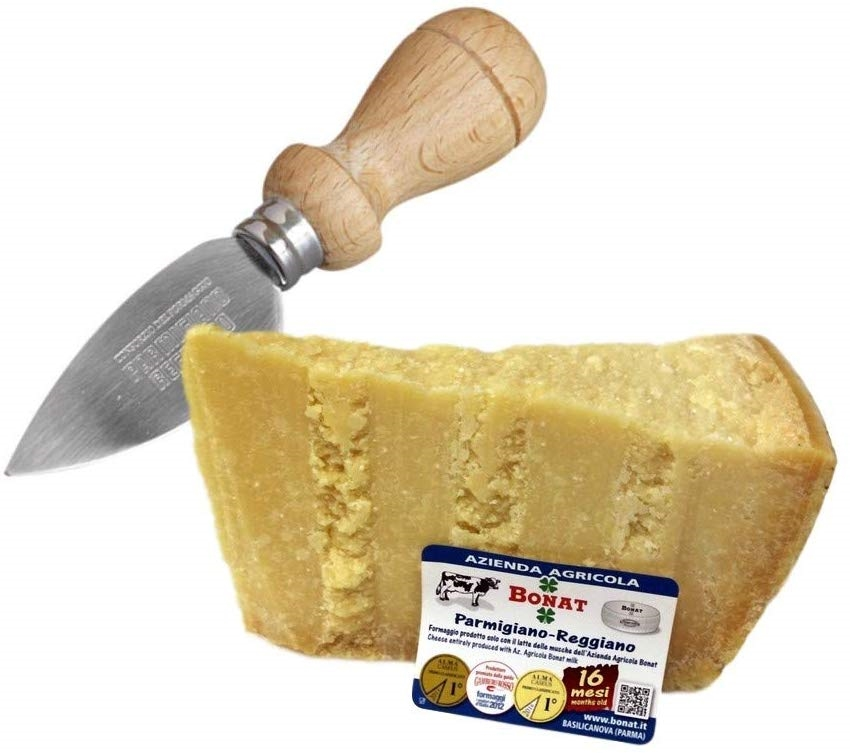Parmigiano Reggiano 14/16 Months 1Kg + Stainless Steel Tool for Cheese