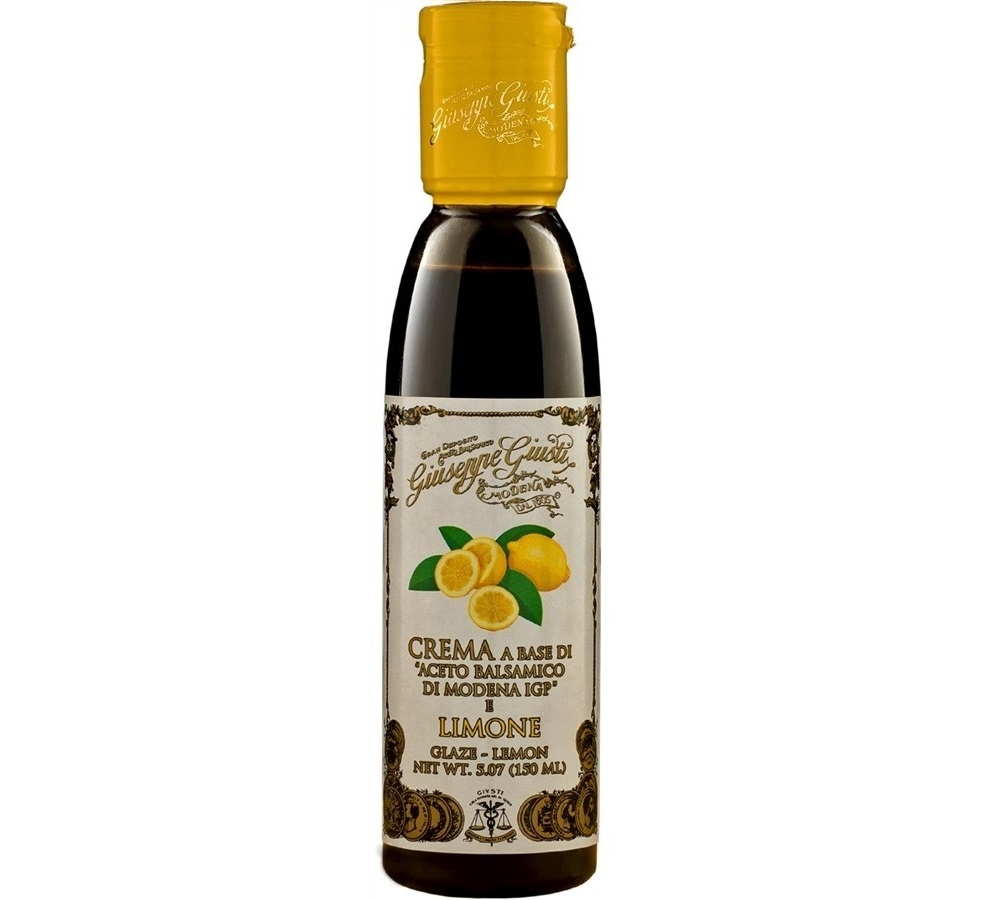 Glazes with Balsamic Vinegar of Modena IGP - Lemon- 6 bottles