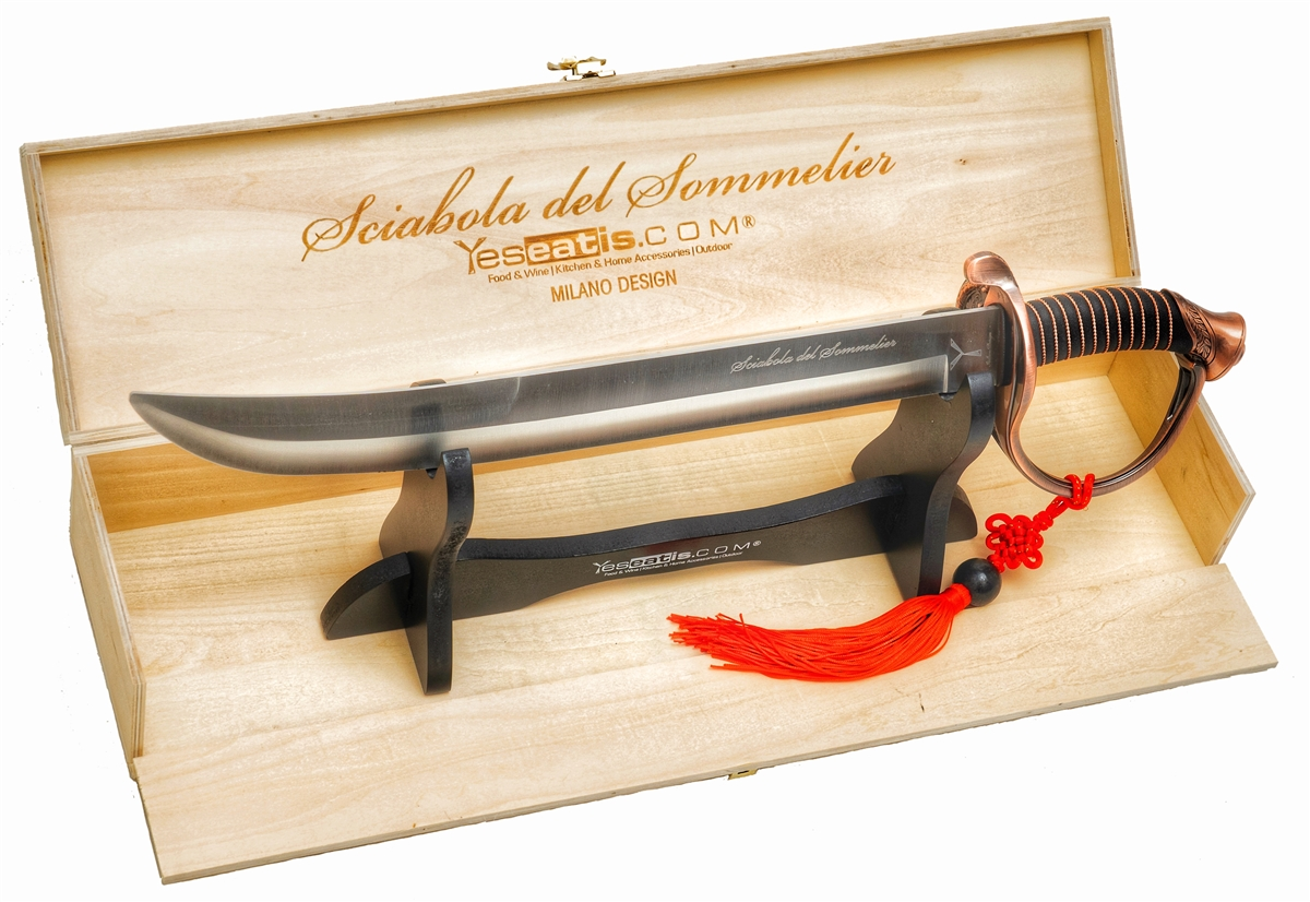 YesEatIs - Sommelier Saber with Wooden Box