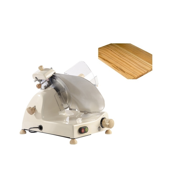 Affettatrice elettrica Curvy Line C220-Lama 22cm-Affilatoio staccato+kit legno frassino - Crema