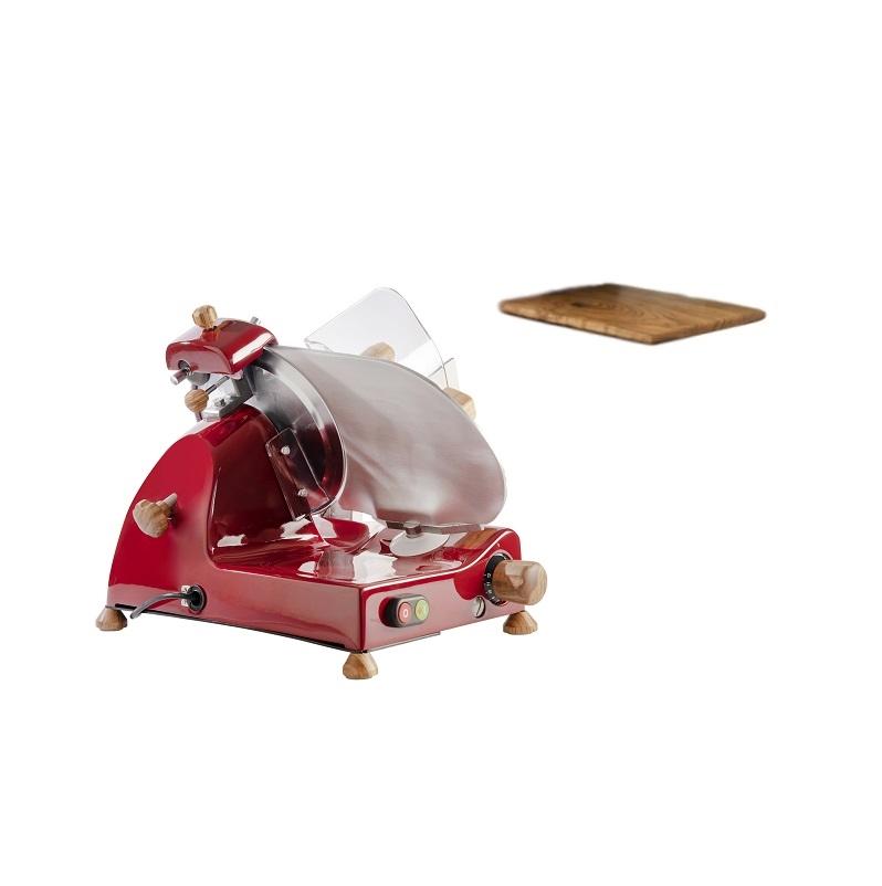 Affettatrice elettrica Curvy Line C220-Lama 22cm-Affilatoio staccato+kit legno ulivo - Rosso